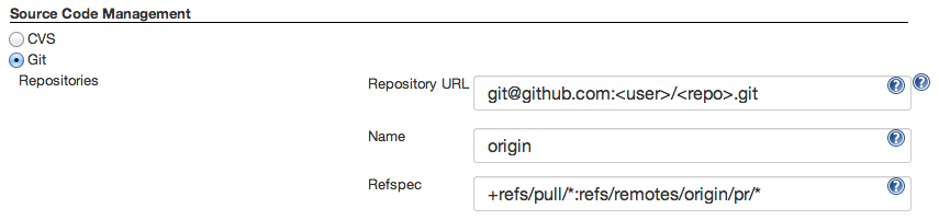 project configuration git